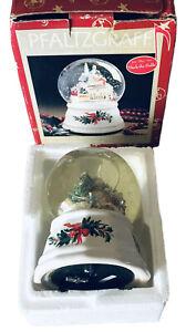 "Pfaltzgraff ""Christmas Heritage"" Musical Snow Globe Plays ""Deck The Halls"" 2000"