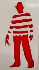 Freddy Krueger Car Truck Cool Funny Window Vinyl Decal Sticker ~RED ONLY~