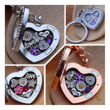 Personalised Heart Locket Keyring Gift For Mum Sister Nan Birthday Xmas Gifts