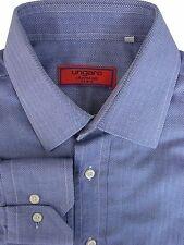 UNGARO camicia blu da uomo 15 S-strisce a spina di pesce
