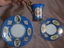 """Tasse porcelaine polychrome """" VIENNA """" Napoléon Bonaparte Joséphine Marie-Louise"""