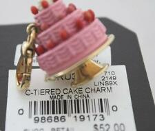 NWT Juicy Couture PINK 3 TIERED Birthday CAKE Gold Charm Tagged Box Food Dessert