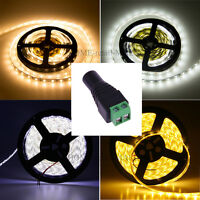 3528 5050 5630 5M White 300 SMD LED Fairy Strip Light Waterproof DC12V Adapter