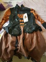 brown Steampunk dress plus size XL new with tags never worn.festi/stagewear
