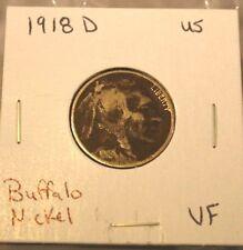 1918 D Buffalo Nickel 5 Cents Indian Head VF Very Fine