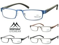 Occhiali da vista, da lettura Rettangolari in acciaio e rubbertouch Montana MR87