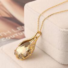 Alexis Bittar Swarovski Olive Liquid Teardrop Crystal Pendant Gold Necklace