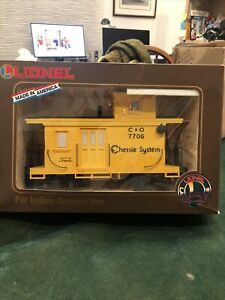 Lionel 8-87706 Chessie System Caboose 7706, G Scale, Large Scale