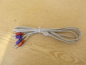 Kabel 2x auf 2x 3,5mm Klinkenstecker Stereo Audio HiFi AUX 1,7m Länge