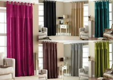 TAB TOP TAFFETA EMBROIDERED VOILE CURTAIN PANEL 57 x 90
