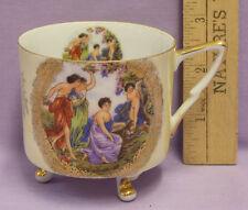 Vintage Royal Halsey L M Fine China Porcelain Cup Garden Angel Cherub Design