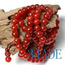 "42"" Tibetan Carnelian /Red Agate Mantra Meditation Buddist 108 Prayer Beads Mala"