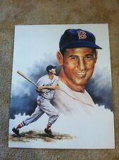 TED WILLIAMS 8 X 10 LITHO LITHOGRAPH VERY NICE