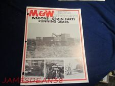 M & W LITTLE RED WAGON WAGONS GRAIN CARTS SALES BROCHURE CATALOG PAMPHLET
