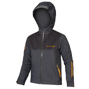 Endura Mt500jr Waterproof Boys Jacket Mtb - Grey All Sizes