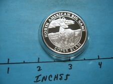 PRONGHORN ANTELOPE NORTH AMERICAN BIG GAME SLAM HUNTING 999 SILVER COIN #3