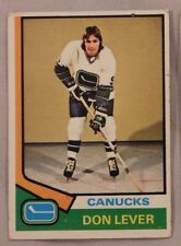 1974 Topps Don Lever Vancouver Canucks #94 Hockey Card ex