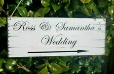 Wedding Direction Sign Personalised This Way Arrow Venue Decoration