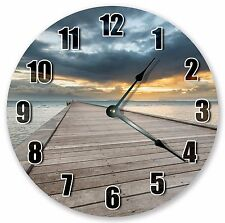 "10.5"" FISHING PIER DOCK CLOCK -  Large 10.5"" Wall Clock Home Décor Clock - 3088"