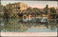 Troy NY ~ Poestenkill Creek & Bridge At Albia ~ Rensselaer County