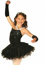 Opal Dance Costume BLACK or BLUE Tutu w/ Mitts & Tiara Clearance AXL AL AS CM CS