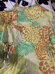 Mile Gabrielle Size 2X Womens Floral Neon Dress CUTE Lightweight And Flowy