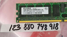 2GB  1RX4  PC2-3200 DDR2-400MHz ECC Registered  240-Pin SINGLE RANK  256X4 RDIMM