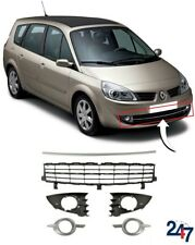 NEW RENAULT SCENIC 2006-2009 FRONT BUMPER LOWER CENTER AND SIDE GRILL TRIM SET