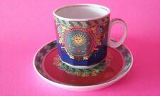 Gianni Versace Vintage 90s Collector Sun KingLe Roi Soleil Espresso Cup & Saucer