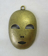 New Metal Charm Face Mask for Feature Bead, Suncatcher & Mobile Gold Tone MM083