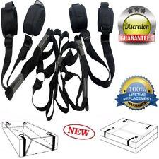 Under Bed Restraints System Bondage Strap Rope Cuffs Adult Kit Kinky Sexy Set