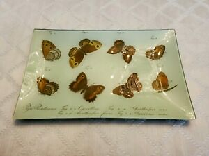 John Derian Glass Tray Butterflies