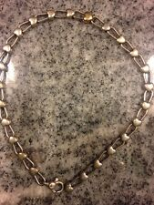 Tiffany & Co. Sterling Silver 18k Yellow Heart Padlock Chain Link Necklace