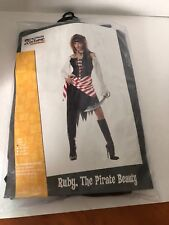 Ruby The Pirate Beauty Carribbean Women Costume Small