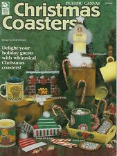 Plastic Canvas Christmas Coasters Book 10 Patterns Instructions Gifts