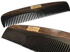 20cm Large Men's Comb Buffalo Horn & Tiger Wood Handmade Dr.Dittmar Germany