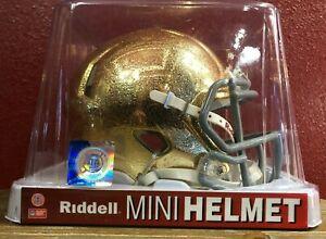 Rare NCAA Notre Dame Fighting Irish HYDROFX Riddell Speed Mini Football Helmet