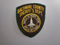 Vintage Baltimore County Maryland Sheriff's Dept. Shoulder Patch Embroidered
