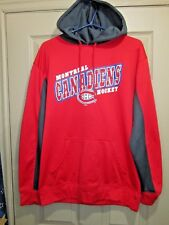 """""""Montreal Canadiens"""" Red with black ~ OFFICIAL NHLHoodie ~ Adult Sz M pull over"""