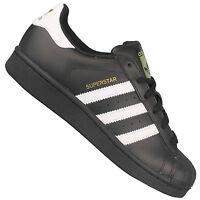 adidas Originals Superstar B23642 Damen-Sneaker Schwarz mit weißen Streifen NEU