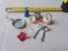 Lovely dolls house kitchen / camping / cooking accessories (1/12th?)