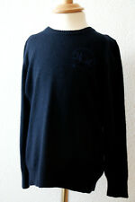 La Martina Pullover Blau Logostickerei 100% Original Gr. 128 /8Y NEU mit Etikett
