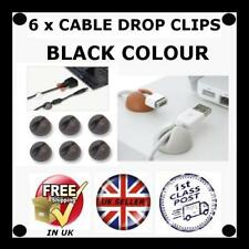 Black Computer Cable Clips