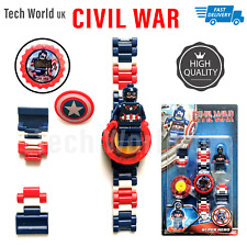 Kids Boys Girls Childrens Watch Snap On Slap Watch-Digital  Civil War Watch