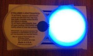 2x Blue Military Cyalume Chemlight Snaplight Glow Patch Sticks To Most Surfaces