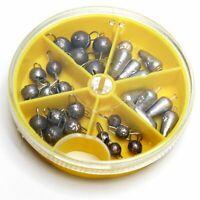 30 Teile Lochblei und Cheburashka Set verschiedene Gewichte 1 - 3 g Bleikopf Jig