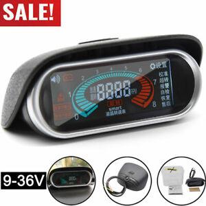 12V Boat SUV Car Truck Universal LCD Digital Tacho Tachometer Gauge 50~9999 RPM