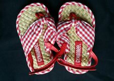NWOT GYMBOREE STRAWBERRY FARM GINGHAM RED SANDALS SHOES 5 6 NEW 18-24