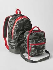 GAP KIDS BOYS GIRLS BACKPACK LUNCH BAG SCHOOL SHARK GRAY RED NEW