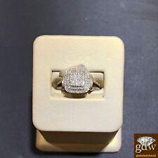 Auténtico 10 Quilates Amarillo Oro 1/3 Ct Diamante de Compromiso/Alianza Mujer